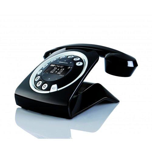SAGEMCOM SIXTYBLACK - TELEFONO FIJO ANALOGICO (CLIP: CALLING LINE IDENTIFICATION PRESENTATION  CAPACIDAD DE LISTA DE DIRECCIONES: 150  CONTESTADOR  INALAMBRICO)  NEGRO