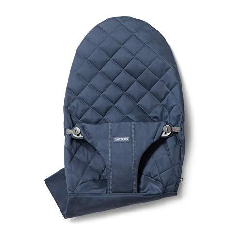 BabyBjörn Le siège en tissu Cotton pour le transat Bliss lit bébé, Midnight blue