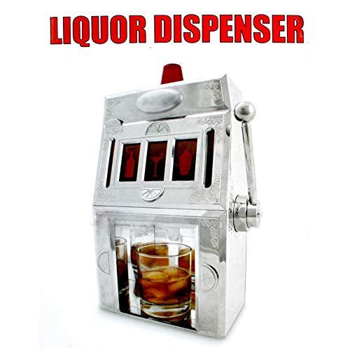 Bierautomat Spielautomat Stil Getränkeautomat Helles Silber Gesicht Schnitzen Kreative Wein Set Whisky Cocktail Einzelgetränk Ausgießer 32 * 20 Cm