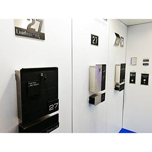 Metzler-Trade® Design Briefkasten aus Edelstahl - mit Gravur ...