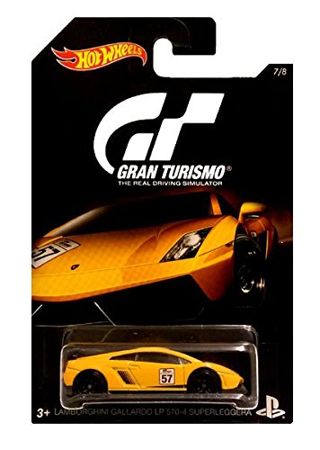 2016 Hot Wheels GRAN TURISMO LAMBORGHINI GALLARDO LP 570-4 SUPERLEGGERA Limited Edition 1:64 Scale Collectible Die Cast Metal Toy Car Model!