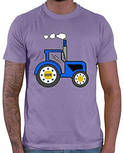 HARIZ  Herren T-Shirt Blauer Traktor Auto Polizei Inkl. Geschenk Karte Lila S