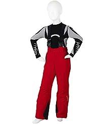 Hyra Breuil, Pantalone da Sci Zip Lunga Unisex Bambini, Rosso, 12 anni (152 cm)