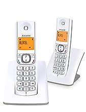 Alcatel F530 Telefono DECT Identificatore di chiamata Grigio, Bianco