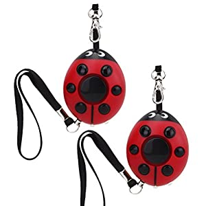 2-pack-Personal-Safety-Alarm-HOOPEN-130dB-Siren-Ladybug-Personal-Security-Alarm-Vigilant-Cute-Self-Defense-Electronic-Device-for-Women-Elderly-Kids-Emergency-Survival-Bag-Decor-with-Keychain-Flas