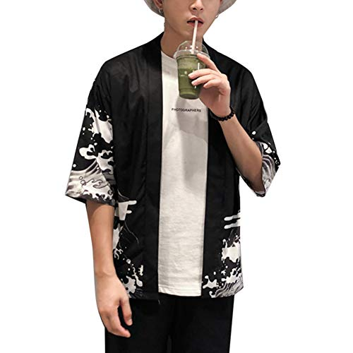 LaoZanA Hombre/Mujer Camisa Kimono Estilo Japonés