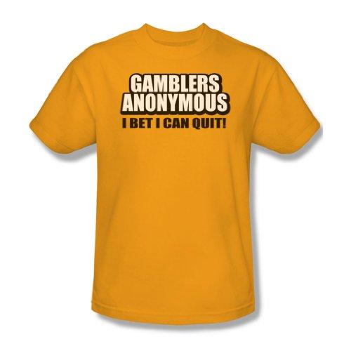 Gamblers Anonymous-Maglietta da uomo, colore: oro Oro