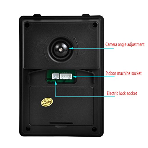 PUTECA 7 inch TFT Color Video door phone Intercom doorphone IR system outdoor Metal panel HD camera
