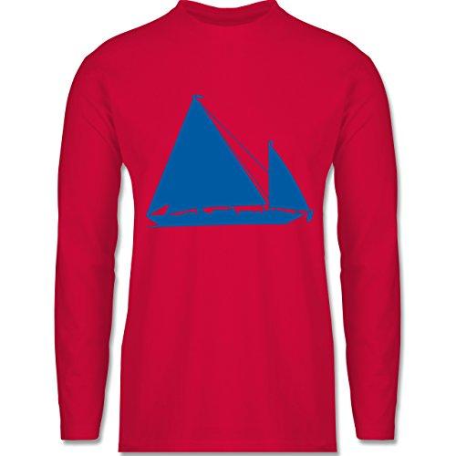 Shirtracer Schiffe - Segelboot - Herren Langarmshirt Rot