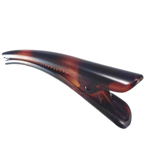 K61 – 003 – Bec pour Cheveux – Bec PVC cm 13 Marron Tortue