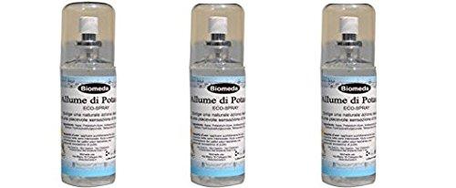 Biomeda- allume di potassio deo spray 3 conf.da 100 ml- deodorante naturale