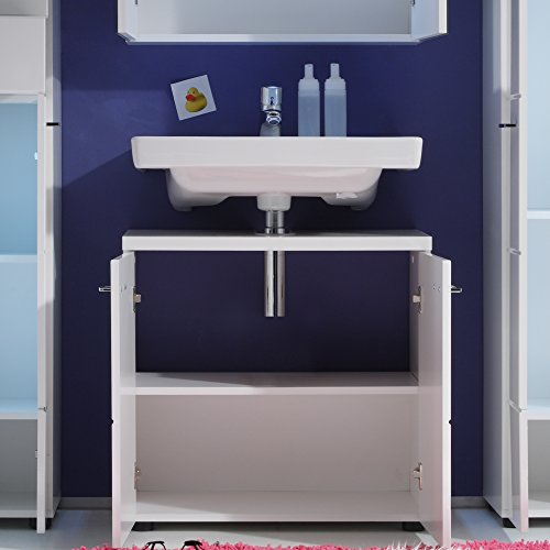 Trendteam Bad Waschbeckenunterschrank, Weiß Hochglanz - 4