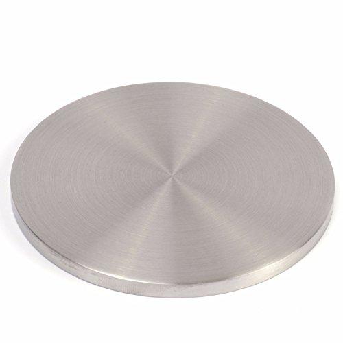 VA Ronde flach, Rundschliff, Rand überdreht, Ø 100 x 6 mm Runde Platte
