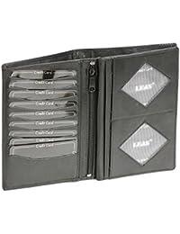 Brieftasche in Buchform LEAS in Echt-Leder, schwarz - LEAS Special-Edition