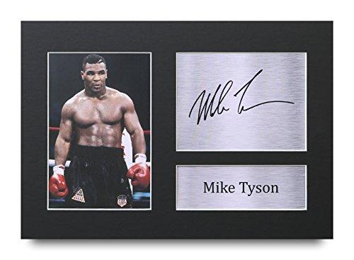 HWC Trading Mike Tyson Geschenke Unterzeichneten A4 Gedrucktes Autogramm Boxen Druck-Foto-Bilderanzeige