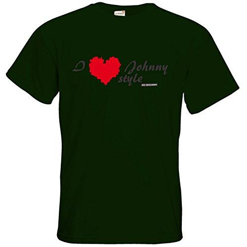 getshirts - Die Grillshow - The Shop - T-Shirt - Grillshow I love Johnny style Bottle Green