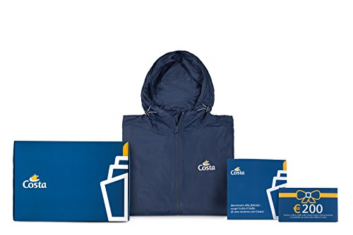 Costa crociere - kit benvenuti alla felicitಠ- giacca sportiva ultra leggera e voucher sconto nord europa di € 200 (large)