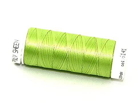 Mettler Polysheen Polyester Machine Embroidery Thread 200m 200m 6141 Spring Green - per spool