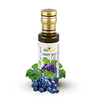 Certified Organic Cold Pressed Grape Seed Oil 100ml Biopurus