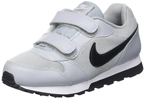 Nike Jungen Md Runner 2 PSV 807317-003 Low-Top, Grau (Wolf Grey/Blk-TTL Crmsn-White), 33.5 EU