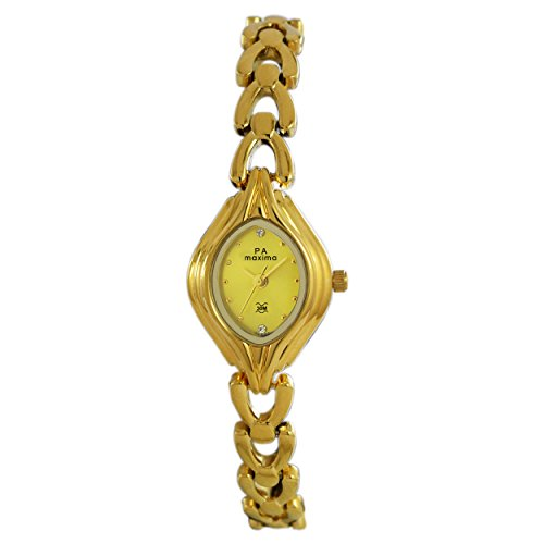 Maxima Analog Gold Dial Women's Watch - 04886BMLY