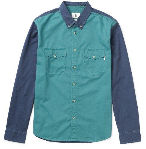 Burton Herren Hemd Milles Long Sleeve Wvn team blue