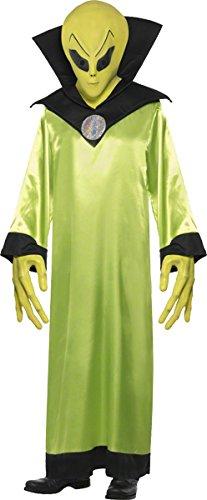 Smiffys, Herren Alien-Lord Kostüm, Robe, Maske und Hände, Größe: M, 22006 (Kostüm Kinder Für Alien)