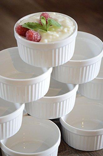 12 Stück Soufflé Souffle Förmchen Pastetenform Näpfchen - 7 cm Ø - Porzellan -