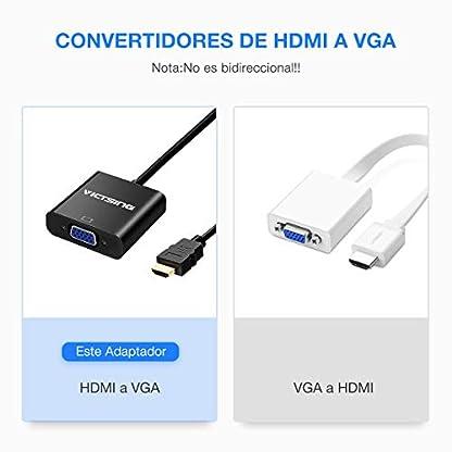 no conversi/ón de se/ñal Functio 6 ft 1.8 m 1080p HDMI macho a VGA macho D-SUB 15 pin M//M Cable Adaptador de conector Cable Transmisor HDMI a VGA convertidor de cable HDMI A VGA Cable de transmisi/ón unidireccional