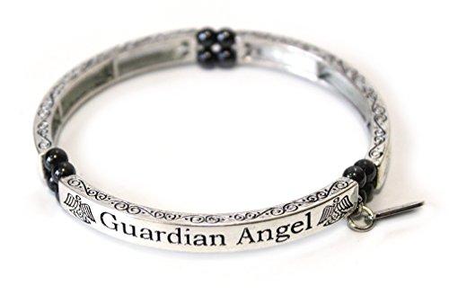 Magnetschmuck Armreif Magnetarmband Guardian Angel Schutzengel Engel mit Magnetkügelchen zu je 800 Gauss, bioenergetisch