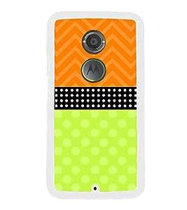 Fuson Orange Black Green Dots Designer Back Case Cover for Motorola Moto X2 :: Motorola Moto X (2nd Gen) (Ethnic Pattern Patterns Floral Decorative Abstact Love Lovely Beauty)