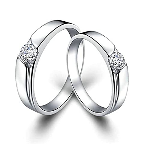 Gnzoe Men Engagement Rings Bands Polished Cubic Zirconia Rings For
