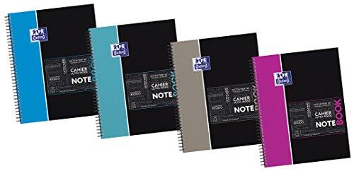 Oxford Etudiant Cahier à spirales connecté SOS Notes 245 x 310 mm 160 pages  coloris aléatoire