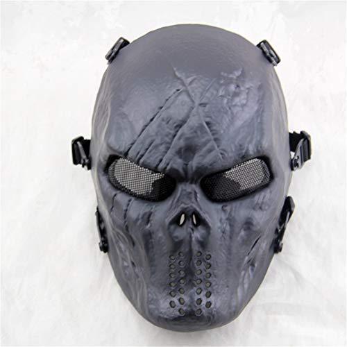 Punk Maske Vollgesichts Taktische Airsoft Maske Overhead Schädel Maske Outdoor Jagd CS War Game Maske für Halloween,F