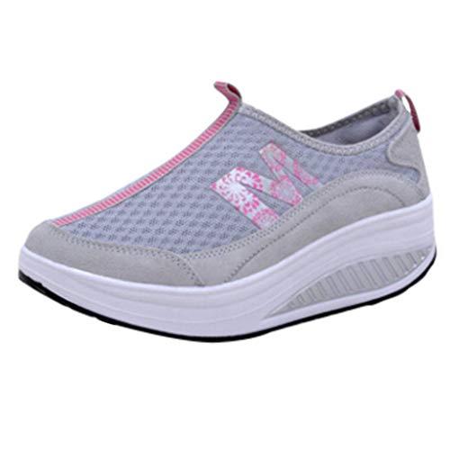 Fascino-M』 Damen Sportschuhe Laufschuhe Gym Turnschuhe Freizeitschuhe Atmungsaktiv Running Sneaker Low Top Schnürschuhea Mesh Outdoor Shoes -