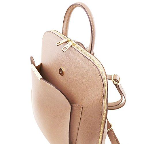 Tuscany Leather TL Bag - Zaino donna in pelle Saffiano - TL141631 (Nero) Nude