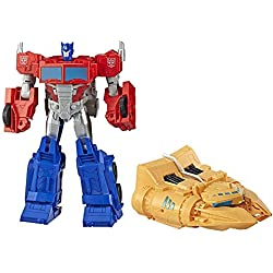 Transformers Cyberverse - Robot Action Optimus Prime Ark Power Camion - 30cm - Jouet Transformable 2 en 1