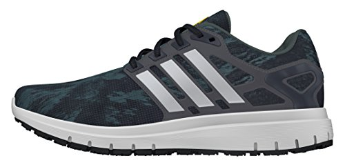 adidas Energy Cloud, Scarpe Sportive Indoor Uomo, Nero (Core Black/Ftwr White/Utility Ivy), 42