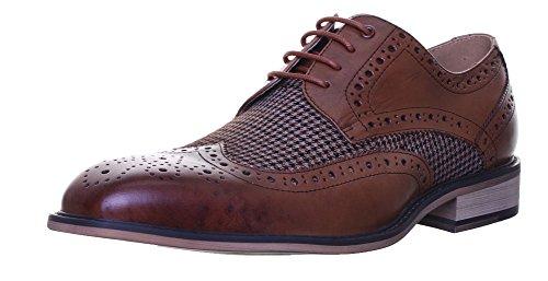 Justin Reece  Gerard, Chaussures de ville à lacets pour homme Brown D12