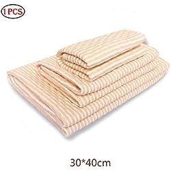 Naisicatar 1pc Wasserdichte Windel Wickebaumwollbaby Bettnässen Pad Pee Pad Matratze Blatt-Schutz für Kinder oder Erwachsene waschbar und wiederverwendbar für Bett Krippe (12 * 16in orange)