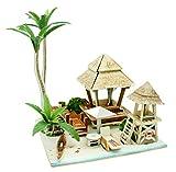 JXJ 3D-Holz Puzzle-DIY Miniatur-Architekturmodell Zu Hause Kreativen Schmuck Holzspielzeug Handwerk, Thanksgiving Weihnachts-Geburtstagsgeschenk (Südostasiatischer Stil)