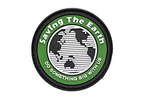 PVC fabricadas ronda Archivar El parche de velcro emblema de la Tierra con verde oliva DO
