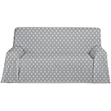 Martina Home Candy Star Foulard Multiusos, Tela, Gris, Dos Plazas