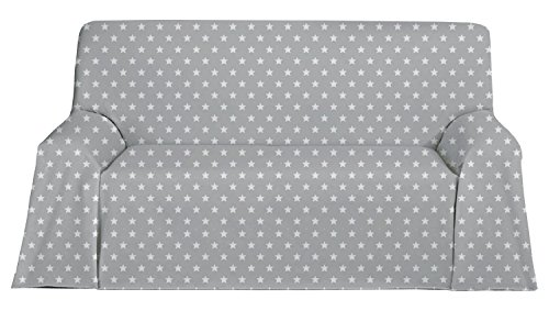 Martina Home Candy Star Foulard Multiusos, Tela, Gris, 200 x 270 cm
