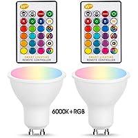 RGB LED 290 Lumen Leuchtmittel dimmbar GU10 Reflektor Fernbedienung 3.5 Watt