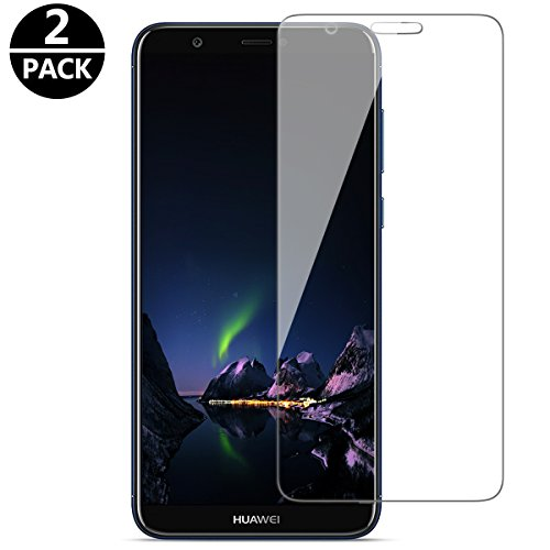 Huawei P Smart Panzerglas Schutzfolie,LCD 9H Anti-Fingerabdruck Displayschutzfolie für Huawei P Smart Folie Screen Protector[Fumum][2 PACK] (Lcd Display Screen Cover)
