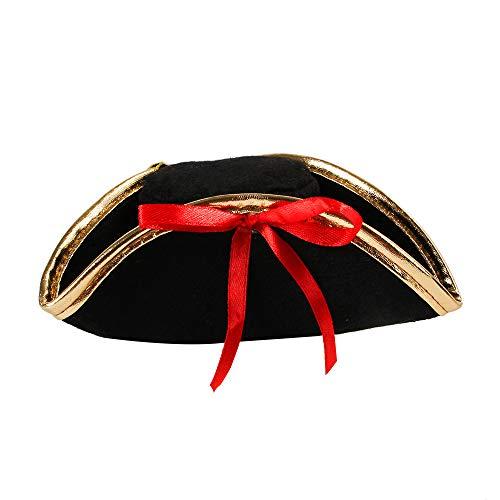 Fancy Kostüm Piraten - ZZM Halloween Haustier Hut, Katze Spinne Pirat Kopfbedeckung Fancy Cosplay Kostüm Stirnband Kopfbedeckung Welpen Verkleidung Requisiten Zubehör Foto Requisiten mit verstellbarem Seil B