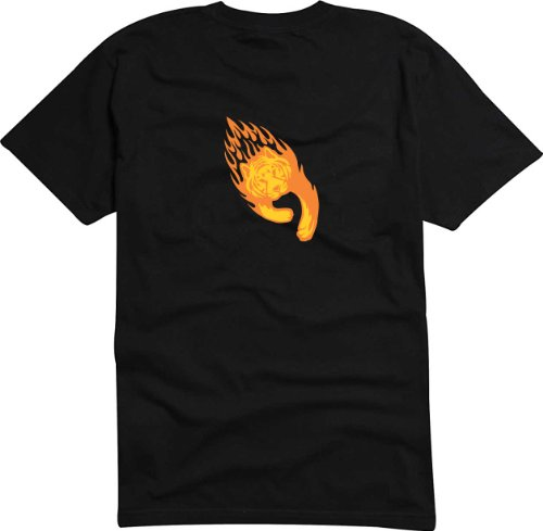 T-Shirt Herren tiger Schwarz