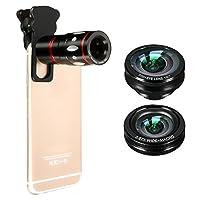 ❀Allez prendre des photos! ❀ avec M.Way 3 en 1 Kit Objectif Téléphone Universel Caméra Lens Téléobjectif Zoom Lentille Optique 10x Objectif Micro + Fisheye Suprême 180° + Objectif Grand Angle Fonctionnalité --Tout neuf et de haute qualité --La coque ...