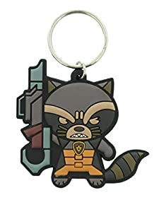 Marvel Guardians of the Galaxy Rocket Racoon Kawaii Rubber Keychain